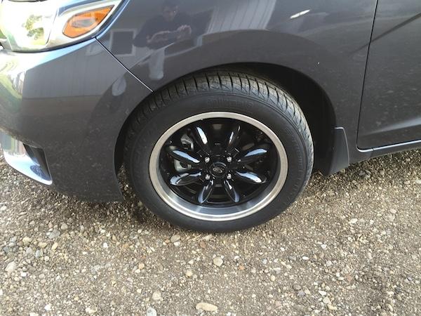 initial impressions 16x7 wheels 205 50r16 tires unofficial honda fit forums. Black Bedroom Furniture Sets. Home Design Ideas